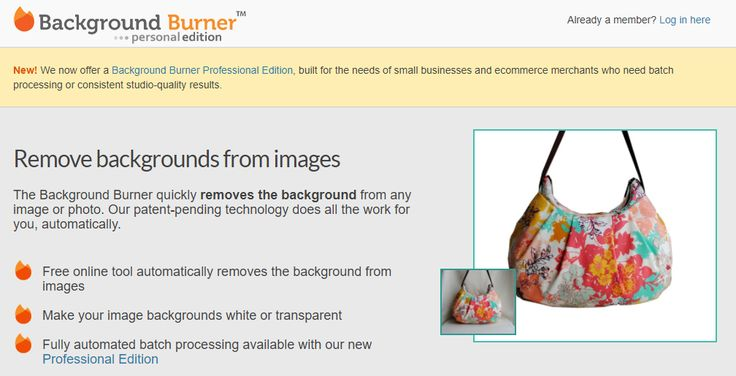 FREE TOOL: Remove Photo Backgrounds with Background Burner - Product images on your website can often look better when the background of the photograph has been removed. While photo editor programs, such as Photoshop, can be used to remove backgrounds, sometimes those kinds of programs have a steep learning curve or are too expensive … #EtsyToShopify #FreeBusinessTools