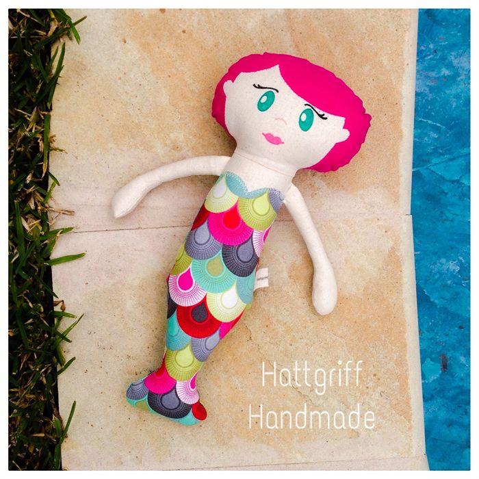 Ready to Ship Tula Pink Mermaid Doll   Hattgriff Handmade   madeit.com.au