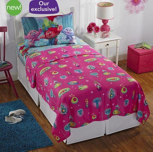 "DreamWorks Trolls Celebrate Glitter Twin Sheet Set - Franco Mfg - Babies ""R"" Us http://fave.co/2cCrkVa"