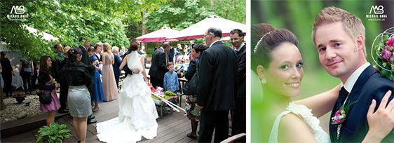Hochzeitsfeier im Garten des Hotel Vulcano Lindenhof