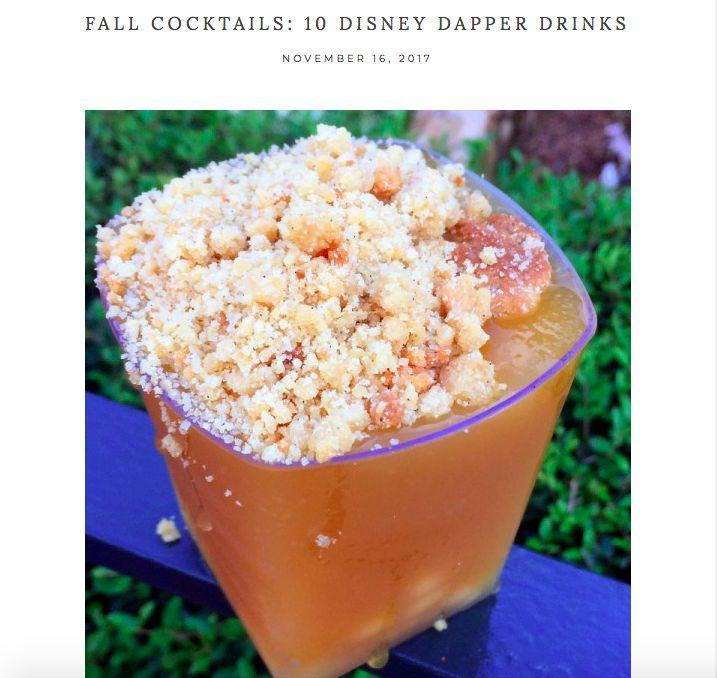 10 DISNEY Inspired Drinks for the Dapper Man -- http://theguide.sprezzabox.com/2017/11/16/fall-cocktails-10-disney-dapper-drinks/