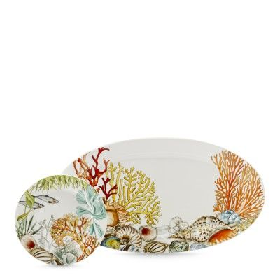 MOM!!! This reminds me of you.  Coral Reef Dinnerware Collection #williamssonoma