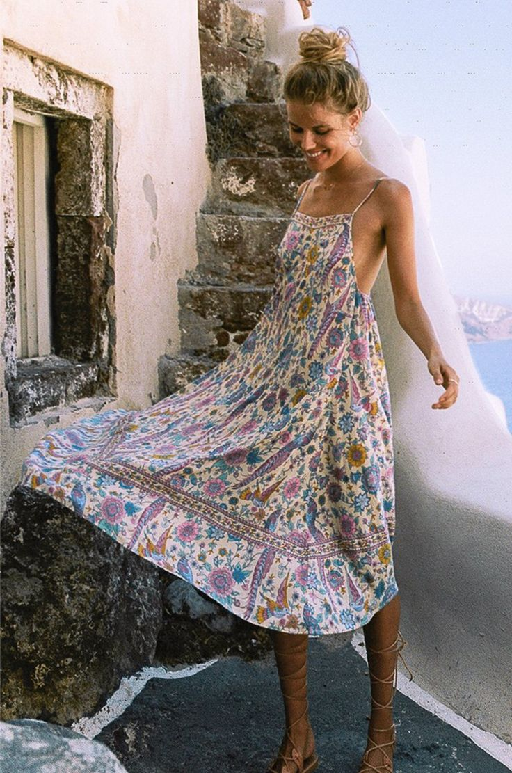 Neutral colored summer sun dresses
