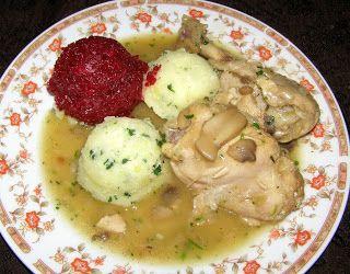 W Mojej Kuchni Lubię.. : duszony kurczak w sosie pieczarkowym  z cebulką na...