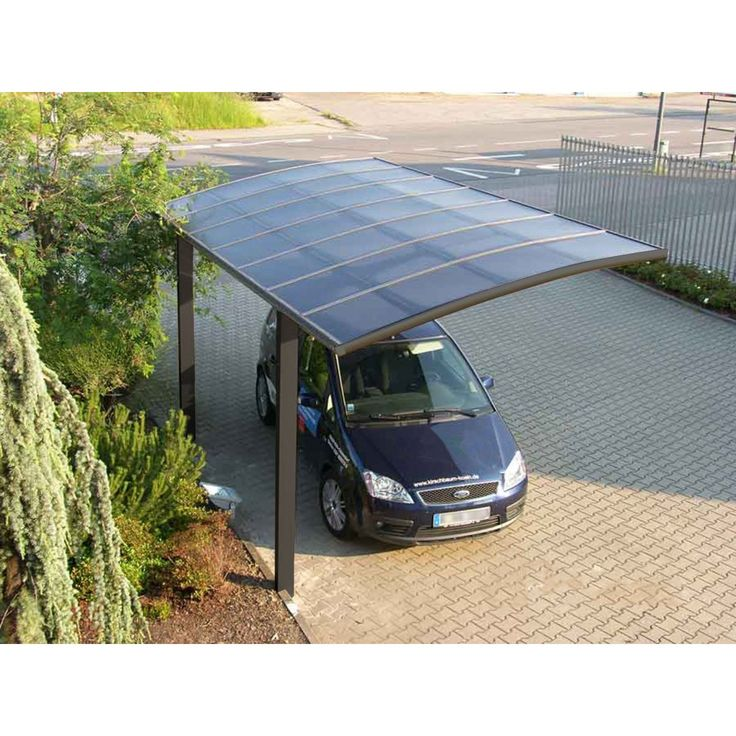 This free-standing, cantilevered carport is a stunning addition to any property. With its floating design and sleek dark grey finish, it's the perfect combination of form and function in a carport. A top quality, high intensity alloy frame is powder co