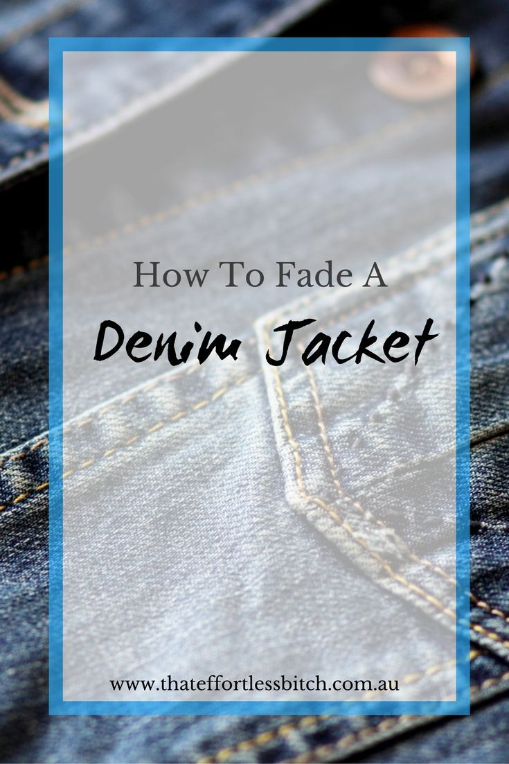 How To Lighten Or Fade A Denim Jacket And Fade Denim Jeans - Bleach And Washing DIY