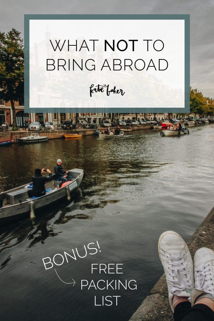 What NOT to bring abroad // Essential study abroad packing tips  + a free packing list! #studyabroad