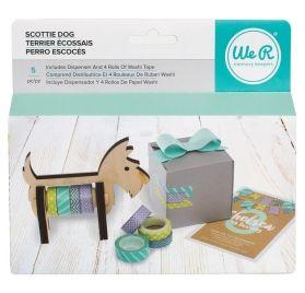Dévidoir en bois pour washi tape 'We R Memory Keepers' Terrier Ecossais