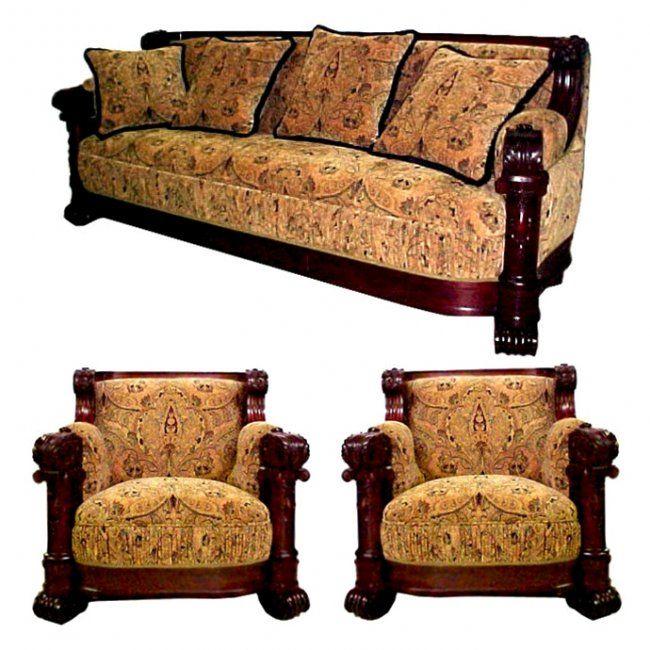~ R.J. Horner Mahogany Sofa Suite ~ liveauctioneers.com