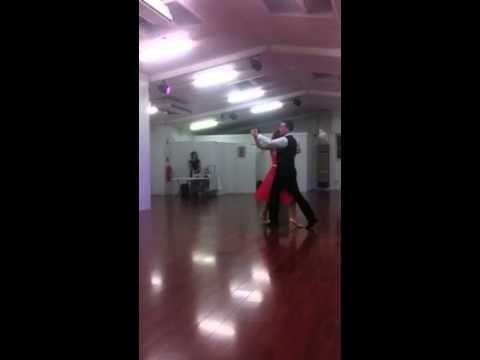 10 May 2014 - Last 2/3 of the Waltz, Modern Ballroom Bronze Medal, dancing with teacher Tom Cavin.
