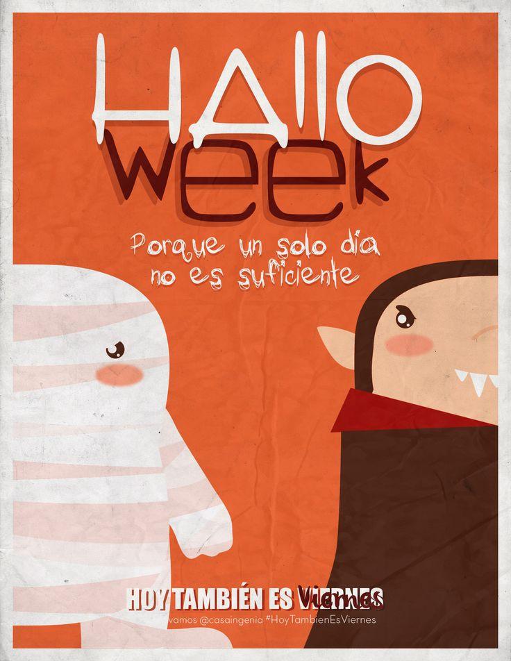 Un día no es suficiente, y #hoytambiénesviernes para celebrar #Halloween