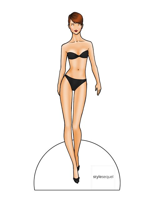 Best Paper Dolls  Images On   Paper Doll Template