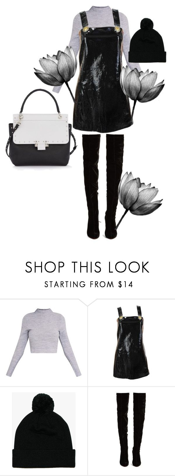 """BW"" by nover on Polyvore featuring Versace, Mr Simple, Christian Louboutin and Lanvin"