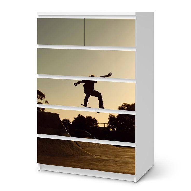 Möbeltattoo Für IKEA Malm 6 Schubladen (hoch) | Designfolie Klebefolie Möbel Sticker  Folie