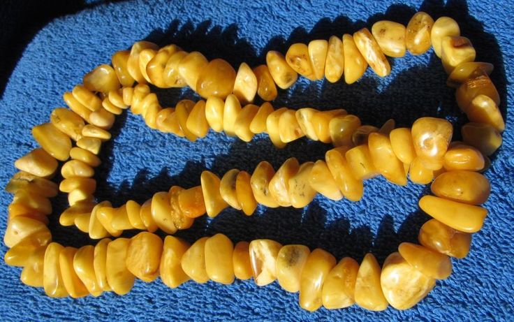Natural Baltic Amber 87 gr Yolk Yellow Royal White Necklace jewelry polished 老琥珀