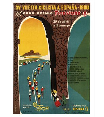 "$30 24""x36""1960 Vuelta a Espana Poster"