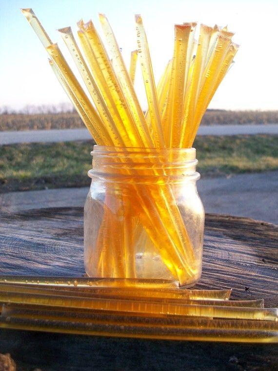 Honey Sticks  Fall Honey  100 honey filled straws by honeyrunfarm, $20.00