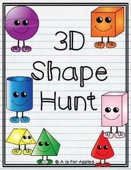 3D shape hunt pages with differentiation:-sphere, cube, cone, cylinder-rectangular prism, pyramid, triangular prismThese pages could be used in a math center or for homework. Students can cut pictures from magazines or draw real-life objects to match each shape.