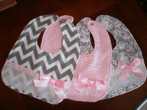 Hey, I found this really awesome Etsy listing at https://www.etsy.com/listing/206037707/baby-girl-bib-set-newborn-gift-shower