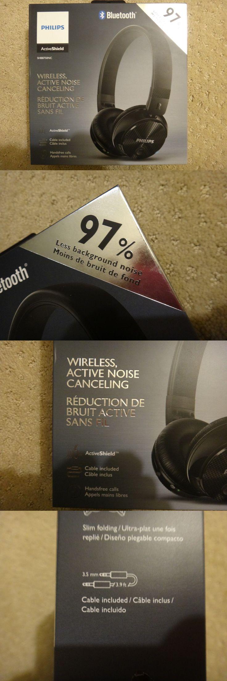 Headphones: New ! Philips Wireless Noise Canceling Headphones Blk # Shb8750nc 27 -> BUY IT NOW ONLY: $35.99 on eBay!