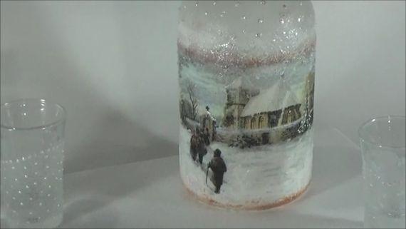 Winter bottle decoration
