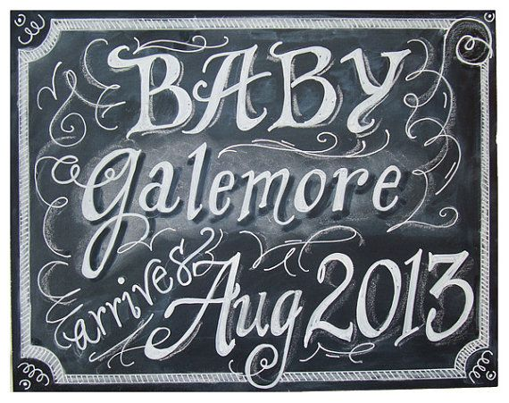 11 x 14 Unframed Small Chalkboard Art Sign for by watermelonstand, $22.00