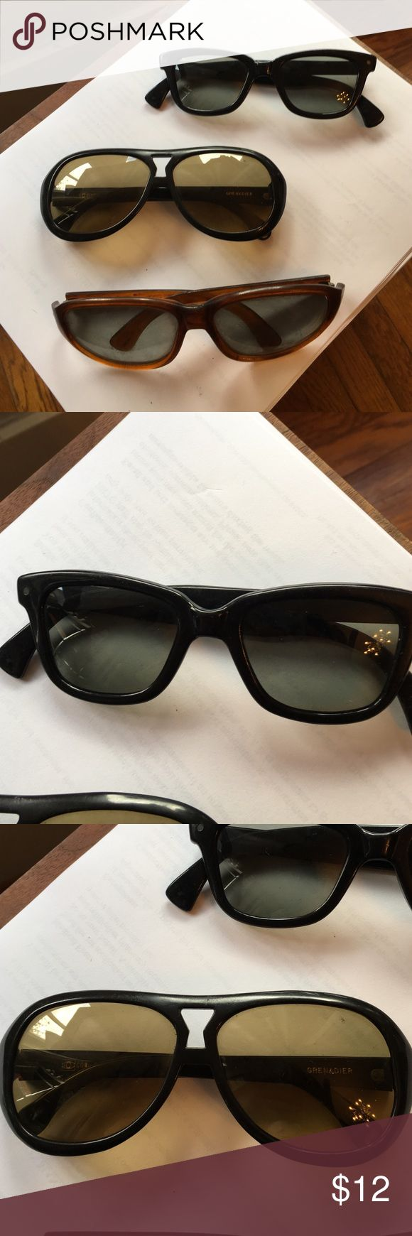 3 pairs ultramod super fly sunglasses Check out photos! Costume quality not high end vintage, but made as samples in the late 60s-early 70s. Great shapes and strong lines. Perfect your Halloween costume!! Accessories Sunglasses