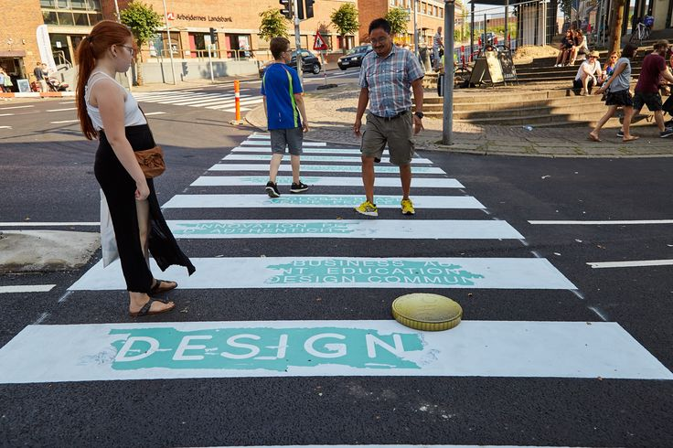 "Crosswalk in Kolding, Denmark 2016 #Guerilla #Kolding #Designweekkolding #Marketing #Citymarketing #Designweek ""Crosswalk"