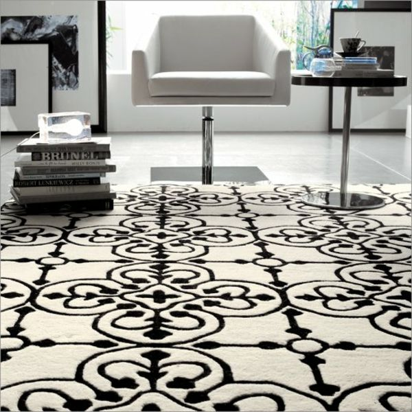 geraumiges bordure wohnzimmer inserat bild oder ececebfc white rug black and white