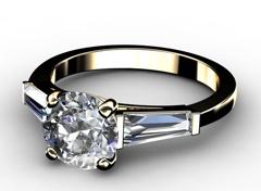 Diamant Verlobungsring Emotion, 750er Gelbgold 18 Karat