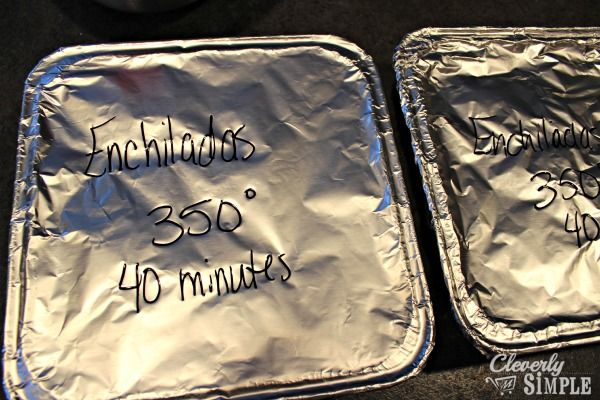 The Best Recipe for Chicken Enchilada Casserole   Freezer Cooking - Cleverly Simple®