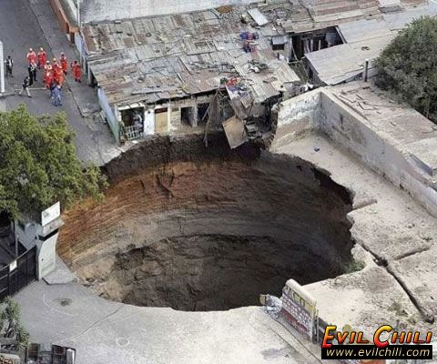 hole in the ground | Big hole in the ground in Guatemala