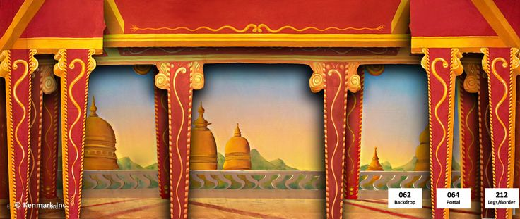 062d Royal Palace Theatrical Backdrop Rentals By Kenmark