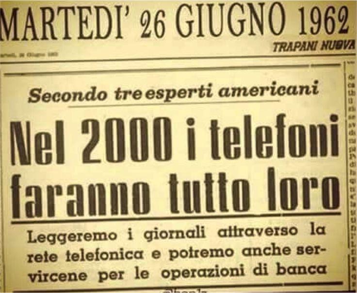 La profezia del 1962 sui telefoni del 2000 fatta da alcuni ingegneri è forse la prova dell'esistena di progetti segreti di retroingegneria aliena Nasetti StefanoI post de IL LATO OSCURO DELLA LUNA