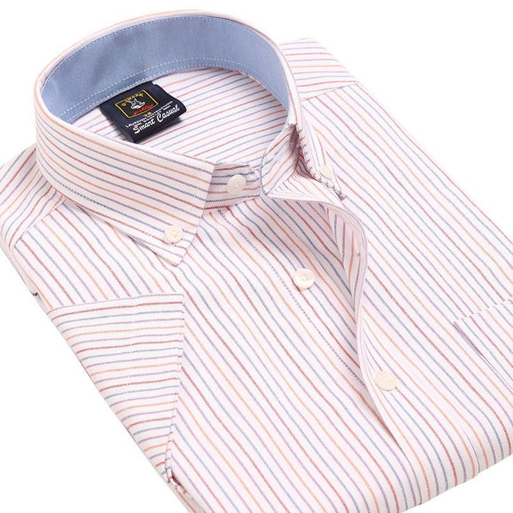 Summer New Arrival Short Sleeve Shirt Social Male 21 Colors Formal Striped  Shirt…