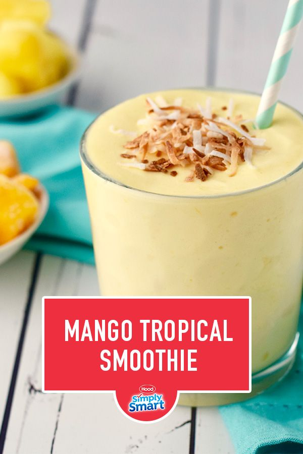 Give your tastebuds a vacation with this deliciously creamy Mango Tropical Smoothie! It's made with mangos, pineapple, lime juice, and Simply Smart Milk so it's packed full of nutrition and great taste.