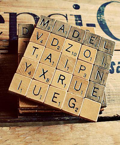 DIY Scrabble Coasters, gotta do this!