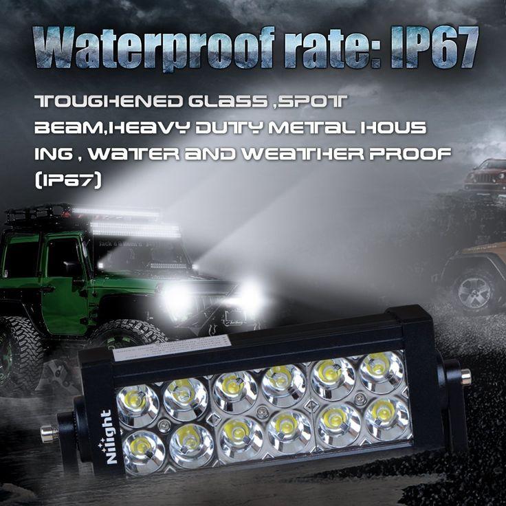 45 best off road led lights images on pinterest led light bars nilight 7 36w spot led work light off road led light bar 12v driving lights aloadofball Images