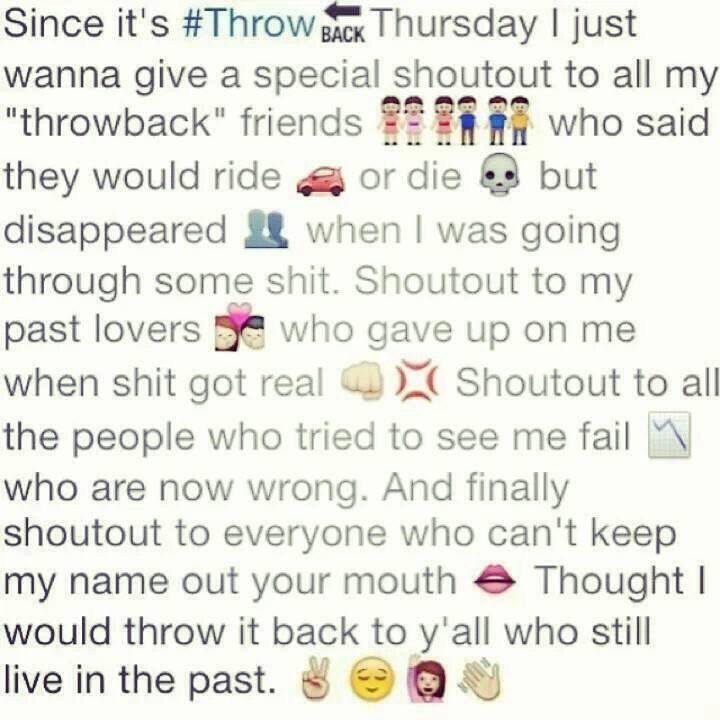 Throwback <3