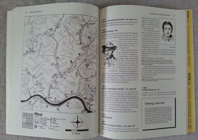 An interior of the Return to Dunwich supplement for the Call of Cthulhu game by Keith Herber showing one of the interior maps. #RPG