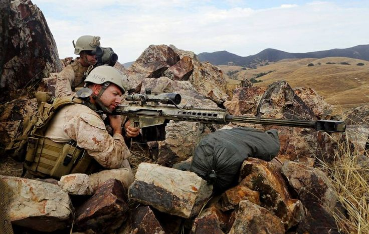 Recon Marines and their .50 Cal doin some recon.
