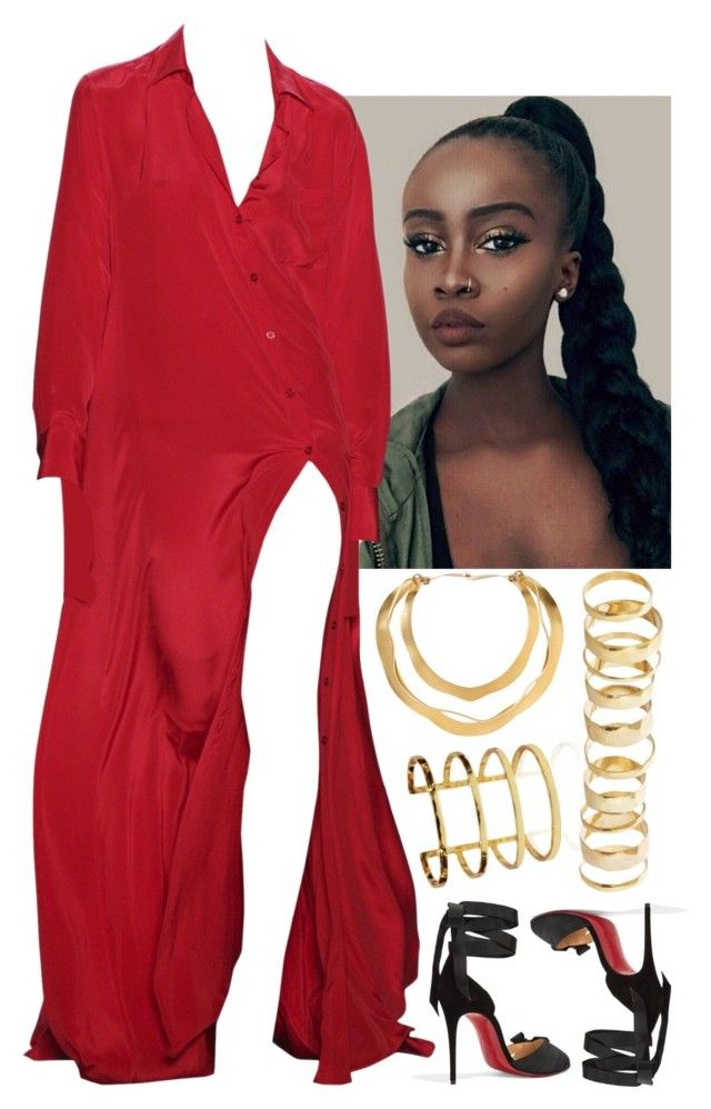 """Untitled #414"" by lamou ❤ liked on Polyvore featuring Christian Louboutin and Rare London"