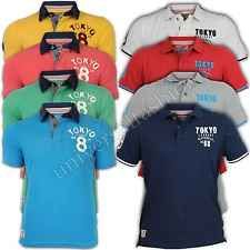 Mens Polo T Shirts Tokyo Laundry Pique Short Sleeved Top Casual Designer New