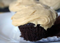 I think this is THE cupcake recipe...but vegan frosting recipe from the other.