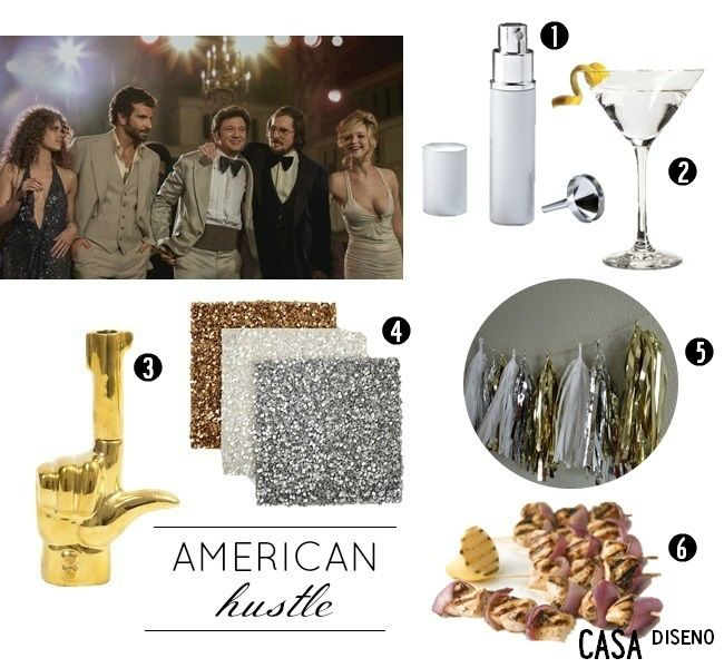 2014 Golden Globes Inspiration: American Hustle #decor: Christmas Parties, Awards Parties, Good Ideas, Globes Parties, American Hustle Parties, Globes Inspiration, Parties Ideas, Entertainment Ideas, Décor Ideas