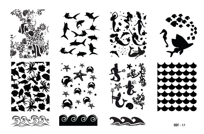 Hot Off The Stamping Press:  LojaBBF Nail Art Stamping Plates!