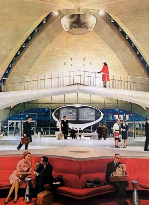 Eero Saarinen, TWA Terminal Airport, New York  >  http://super-urbano.com/2013/02/01/the-modern-baroque-just-to-remind-ourselves/    #architecture #eero #saarinen #ny #airport #internal #drawing