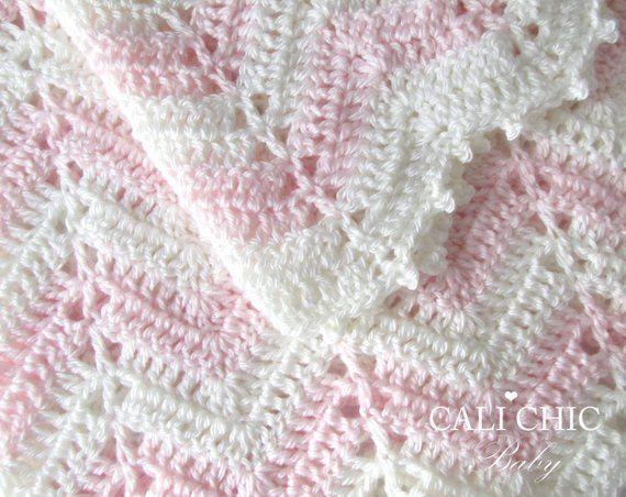 2a4c5d934726a Crochet Baby Blanket PATTERN, Baby Pattern Chevron Design 55, Easy ...