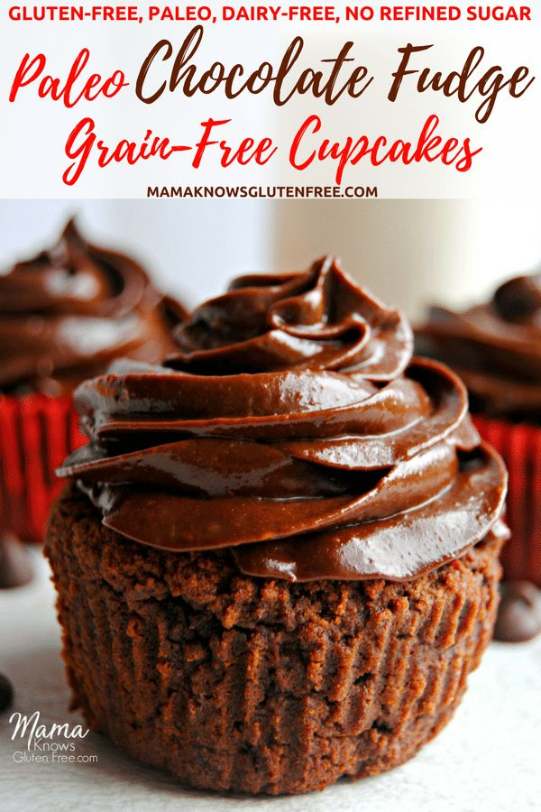 Grain-free never tasted better! My easy and super moist Paleo chocolate fudge cupcakes will satisfy your chocolate cake cravings. Made with simple and healthy ingredients. Gluten-free, dairy-free, grain-free and no refined sugar. Yes, even the glorious chocolate fudge frosting! #paleorecipe #grainfree #glutenfreerecipe