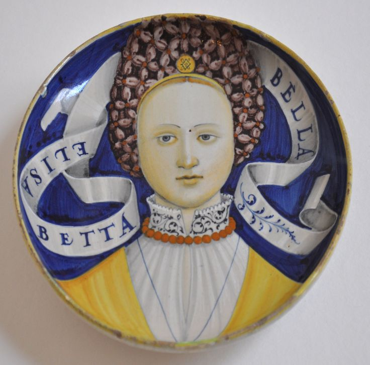 Italian maiolica bella donna plate, Elisabetta, Castel Durante, c1520's